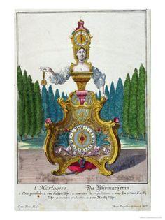 Clockmaker Martin Engelbrecht,1730