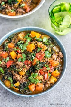 Healthy, filling and easy... Gotta love stews no matter the season! Lamb, lentil and squash stew | Supergolden Bakes