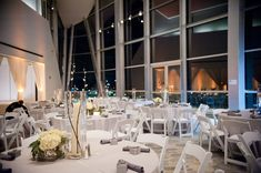 Wedding reception at the Hunter Museum of American Art in Chattanooga, TN. Photo by Dotson Studios. Event planning by Soirées of Chattanooga.