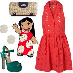 Lilo inspired outfit.  I kinda love the shoes.