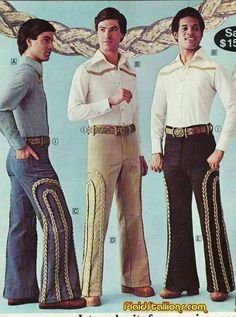 men Plaid Stallions : Rambling and Reflections on pop culture: Rope burn Bad Fashion, 60s And 70s Fashion, Retro Fashion, Vintage Fashion, Fashion Outfits, High Fashion, Fashion Women, Fashion Ideas, Moda Vintage