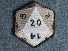 D-20 iron on patch. $10.00, via Etsy.