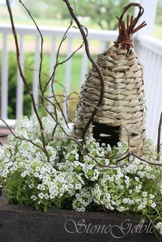 Bee Skep center piece