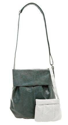 Frauentaschen :: MADEMOISELLE :: M10 | ZWEI Taschen Handtasche :: grün :: petrol