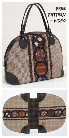 Diy bags 849913760913085070 - DIY Patchwork Handbag Free Sewing Pattern + Video Source by fabricartdiy Diy Bags Patterns, Handbag Patterns, Sewing Patterns Free, Free Sewing, Pattern Sewing, Hand Sewing, Sewing Diy, Leather Bag Pattern, Diy Sac
