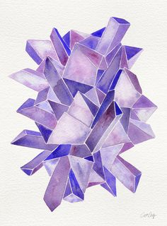 Amethyst Watercolor Art Print by Cat Coquillette | Society6