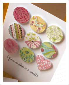 CUTE! Circle and heart punches, some of the dimensional dots, and you get a beautiful card