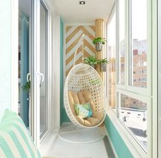 Inspiring Minimalist Home Balcony Design Ideas have an important role in your home because it is located in front of the house. Although only as an additional function, the balcony design must stil… Small Balcony Decor, Small Balcony Design, Apartment Balcony Decorating, Interior Decorating, Decorating Ideas, Apartment Walls, Apartment Balconies, Decor Ideas, Interior Design
