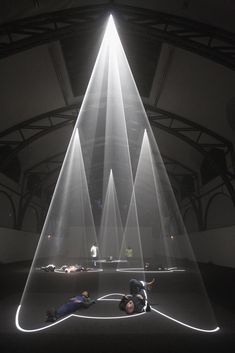 Anthony McCall Various works like Meeting You Halfway or Describing a cone 2009