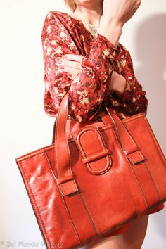 REDUCED Vintage Italian Leather Bag by BelmondoVintage on Etsy, €35.00