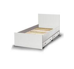 Κρεβάτι+μονό+με+ίσια+τελειώματα+&+2+τροχήλατα+συρτάρια+αποθήκευσης Διαθέσιμα+χρώματα:+Λευκό,+Δρυς,+Wenge ΔΙΑΣΤΑΣΕΙ...