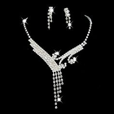 Jewelry Set Women's Anniversary / Wedding / Engagement / Birthday / Gift / Party / Special Occasion Jewelry Sets Alloy Rhinestone Silver 1662629 2016 – $3.99