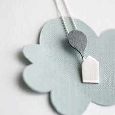 Little Cabin Necklace house necklace in sterling di Joannarutter, $90.00