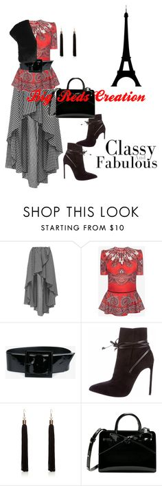 """""""Classy & Fabulous"""" by bigreds ❤ liked on Polyvore featuring Caroline Constas, Alexander McQueen, Yves Saint Laurent, River Island and L.K.Bennett"""