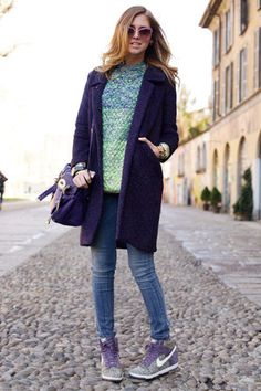 outlet store fcc7c df7a4 ... Chiara Ferragni and Nike  Dunk Sky High Liberty  Hidden Wedge Sneaker  Photograph ...