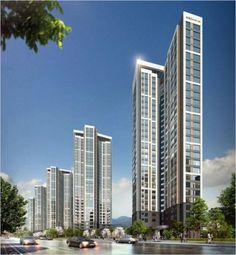 안녕하세요~ 고덕주공3단지 조합이 3개월동안 시공사와 협의하고 협상하여다음과 같은 성과표 입니다.고덕... Mix Use Building, High Rise Building, Apartment Plans, Apartment Design, Best Build, Building Facade, Facade Architecture, Beautiful Buildings, Exterior Design