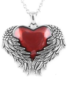 """Guarded Heart"" Necklace by Controse (Silver)"