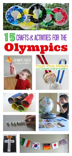 Great Olympic themed crafts and activities for kids from No Time for Flashcards.