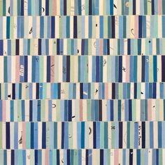 Glenn Fischer  Paper Collage on Panel