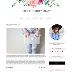 Responsive Blogger Template Zoe Feminine by PishandPoshStudio
