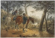 Coo-ee in the Bush (Samuel Thomas Gill Crime, The Past, History, Painting, Art, Aussies, Art Background, Painting Art, Kunst