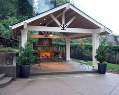 Inspiring Awesome and Functional Pavilion Design for Your Home . - Inspiring Awesome and Functional Pavilion Design for Your Home … Inspiring Awesome and Functional Pavilion Design for Your Home Backyard Pavilion, Outdoor Pavilion, Backyard Gazebo, Backyard Patio Designs, Pergola Patio, Backyard Landscaping, Pergola Ideas, Pergola Kits, Backyard Ideas
