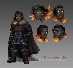 Female Character Design, Character Design Inspiration, Character Concept, Character Art, Concept Art, Dungeons And Dragons Characters, Dnd Characters, Fantasy Characters, Dwarf Girl