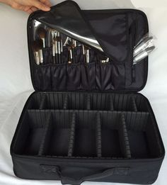 Cosmetic Makeup Case Bag Black Pro Travel Jewelry Box Artist Organizer