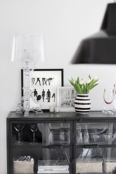 Very much into Black and White at the moment... the lamp I already got, missing the super cabinet