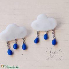 Esőfelhő fülbevaló (IndieLynx) - Meska.hu Handmade Jewellery, Drop Earrings, Jewelry, Fashion, Jewellery Making, Moda, Handmade Jewelry, Jewerly, Jewelery