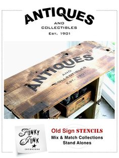 ANTIQUES / Funky Junk's Old Sign Stencils
