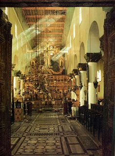 Aentral aisle of the Monastery of St Catherine, Sinai, Egypt.