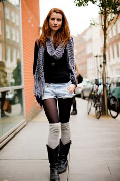 Knee high socks and leather boots. Oh yeah.