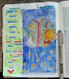 Joseph's Coat of many colors, his dreams, and BAJ:Restless:Joseph:Gen Genesis Bible, Book Of Genesis, Scripture Art, Bible Art, Jacob And Rachel, Bible Doodling, Coat Of Many Colors, New Bible, Fancy Fonts