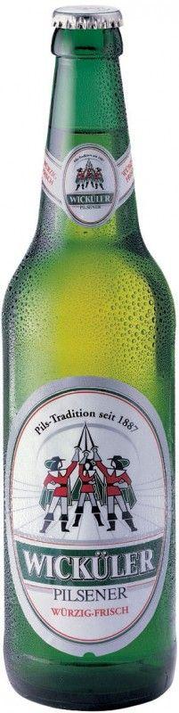 Cerveja Wicküler Pilsener, estilo German Pilsner, produzida por Brauerei Brinkhoff, Alemanha. 4.9% ABV de álcool.