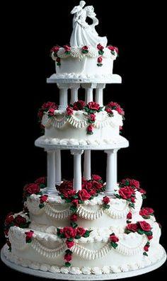 Huge Wedding Cakes, Extravagant Wedding Cakes, Wedding Cake Red, Amazing Wedding Cakes, Elegant Wedding Cakes, Wedding Cake Designs, Wedding Cake Toppers, Fancy Cakes, Cute Cakes