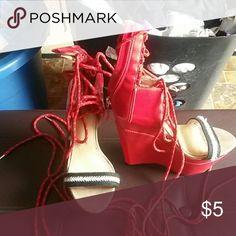 Wedges Red heel wedges GX by Gwen Stefani Shoes Wedges
