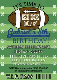 Printable Football Birthday Invitation / by RiverMamasDesigns