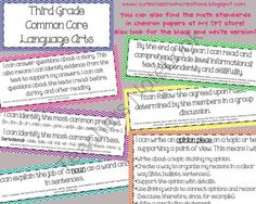 3rd Grade Chevron Common Core Objectives Combo Pack from Cute Classroom Creations on TeachersNotebook.com (49 pages)  - 3rd Grade Chevron Common Core Objectives Combo Pack