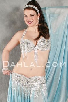 2d8e5e2f84  399.95 EXTRAVAGANCE Bra and Belt Set in Silver in a Bra Size  3 by  Pharaonics of Egypt