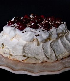 Pavlova, Black Forest, Fudge, Cheesecake, Lemon, Pudding, Pie, Sweets, Cookies