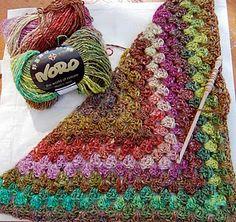 Found it--instructions for half granny square shawl