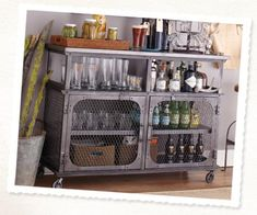 So, I should have a bar in my basement, and it should be this one.  Yes.  Industrial look bar at WorldMarket.com