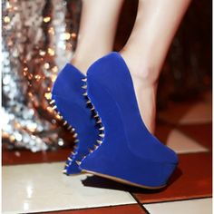 Blue Wedges - I Love Shoes, Bags & Boys