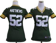 Women Green Bay Packers #52 Clay Matthews Jersey