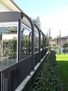 In private homes it's a great solution for terraces, porches, balconies, verandas, gazebos and conservatories being both flexible and offering an effective barrier against the elements. Glass Structure, Conservatories, Create Space, Terraces, Balconies, Porches, Gazebo, Homes, Building