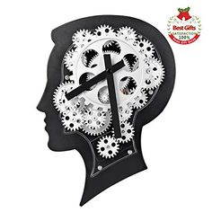 Wall Clock with Creative Brain-Shape Design Non-Ticking Advanced Technology Gear Clock for Office & Home Decoration Living Room Bedroom, Living Room Decor, Brain Shape, Wall Clock Silent, Wall Clocks, Gear Clock, Joy And Happiness, Shape Design, Creative Home