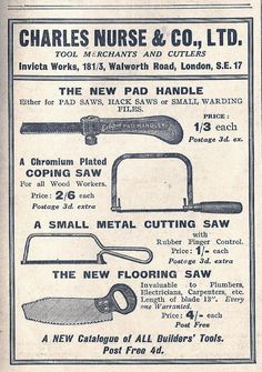 Advert. from 1936  #tools  @NewDesigners  via @CreweCitizen