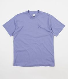 2903d85bd0 Polar Happy Sad Garment Dyed T-Shirt - Washed Purple