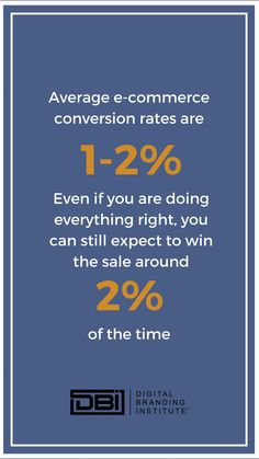 Average e-commerce conversion rates are even if you are doing everything right, you can still expect to win the sale around of the time. Email Marketing, Content Marketing, Social Media Marketing, Business Goals, Business Tips, Search Optimization, Google Analytics, Education And Training, Digital Trends